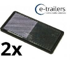 TRAILER CARAVAN GATE POST CAR DOOR HORSEBOX ADHESIVE REFLECTOR FRONT CLEAR  x 2